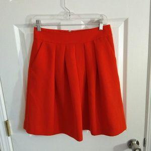 Banana Republic red skirt size 2